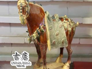 Трехцветная керамика династия Тан «сань-цай» Интернет-магазин предметов интерьера 'CHINADOM' Произведения искусстваСкульптуры Керамика Многоцветный