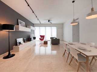 Minimalist dining room by Eightytwo Minimalist
