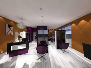 Aménagement d'un salon de coiffure. Espaces commerciaux modernes par FP Design espace Moderne