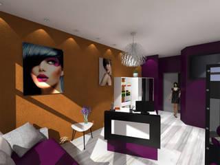 Aménagement d'un salon de coiffure. Centres commerciaux modernes par FP Design espace Moderne