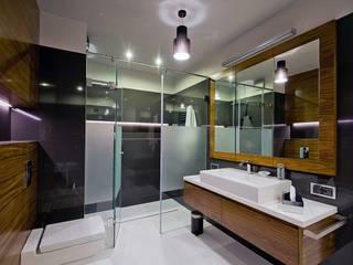 Apartament w Warszawie - łazienka: styl , w kategorii Łazienka zaprojektowany przez Agnieszka Marczyk Studio Projektowania Wnętrz
