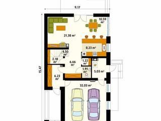 Paredes y pisos modernos de Biuro Projektów MTM Styl - domywstylu.pl Moderno