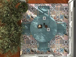 Blophome Balcone, Veranda & Terrazza in stile rustico