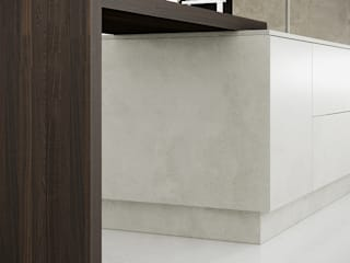 Beton - Concrete Kitchen Fascias:   by Deseo