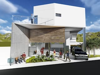 Oficinas y Tiendas de estilo  por Elo´s Arquitetura & Associados, Minimalista