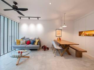 Salas de estilo escandinavo de Eightytwo Pte Ltd Escandinavo