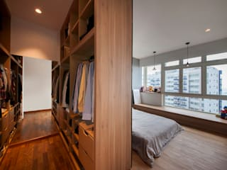 Scandinavian style dressing room by Eightytwo Pte Ltd Scandinavian