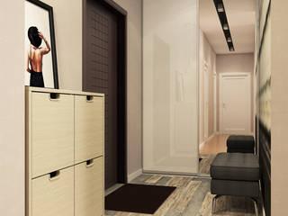 Визуализации проекта для Елены и Алекса Коридор, прихожая и лестница в эклектичном стиле от Alyona Musina Эклектичный