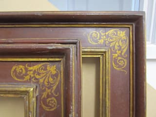 Our reproduction Italian 17th century cassetta frame with corner & centre arabesques par Perceval Designs Classique