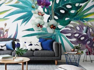 Living Room Pixers Soggiorno in stile tropicale