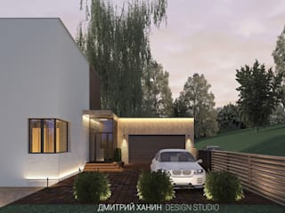 Дом с видом на озеро Dmitriy Khanin Дома в стиле минимализм Дерево Бежевый