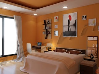 Residential Projects Modern style bedroom by Abahir Interiors Modern