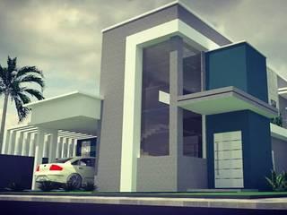 Sobrado em Nova Esperança do Sudoeste Casas modernas por BE - Arquitetura, Paisagismo e Interiores Moderno