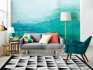 Ombre Pixers Living room Turquoise
