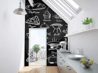 Blackboard Modern kitchen by Pixers Modern