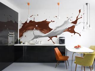 Milk and chocolate Modern kitchen by Pixers Modern