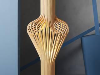 Stehleuchte nach norwegischer Schichtholzhandwerkskunst :  Wohnzimmer von lights4life GmbH & Co.KG