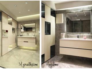 Ofis 352 Mimarlık Hizmetleri Baños de estilo moderno Madera Blanco