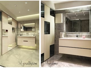 Ofis 352 Mimarlık Hizmetleri 現代浴室設計點子、靈感&圖片 木頭 White