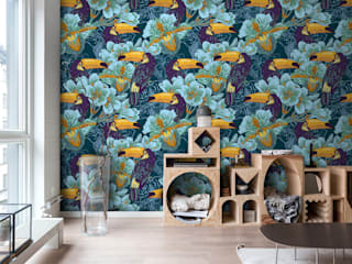 Toucans in the jungle Modern living room by Pixers Modern
