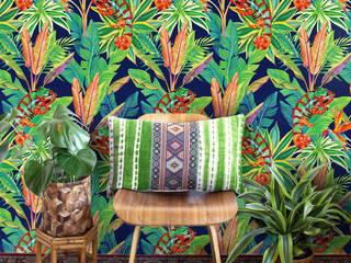 Living Room Pixers Soggiorno in stile coloniale Verde
