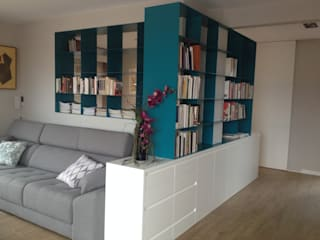 Librerías de chapa de hierro: Salones de estilo  de CLAU21 INTERIORISMO Y CONSTRUCCIÓN
