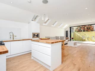 Open Plan Kitchen—As Built: modern Kitchen by Arc 3 Architects & Chartered Surveyors
