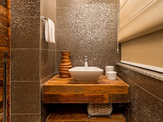 Rustic style bathroom by Flaviane Pereira Rustic
