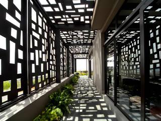 VMArquitectura Modern corridor, hallway & stairs Concrete