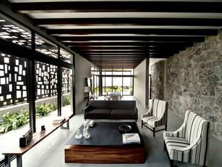 Casa Horizonte - VMArquitectura Salas de estilo moderno de VMArquitectura Moderno Concreto