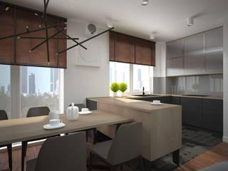Apartament w stylu loft Industrialna jadalnia od ZAWICKA-ID Projektowanie wnętrz Industrialny