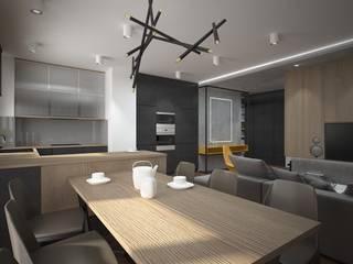 Apartament w stylu loft Industrialny salon od ZAWICKA-ID Projektowanie wnętrz Industrialny