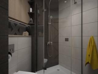 Endüstriyel Banyo ZAWICKA-ID Projektowanie wnętrz Endüstriyel