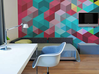 Colorful Abstract Modern study/office by Pixers Modern