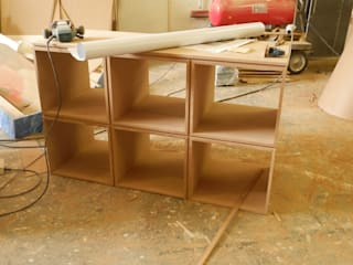 Jozi Maboneng Radio (JMR) - Studio Furniture:   by MNDSA Environmental,