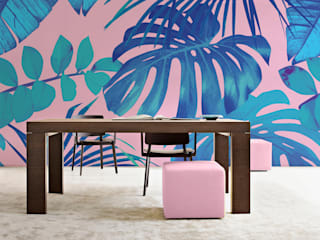 Tropical Leaves Modern dining room by Pixers Modern