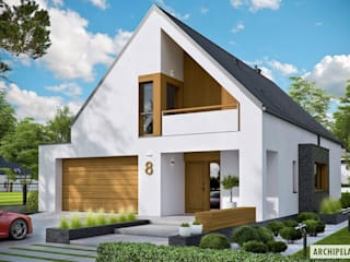 PROJEKT DOMU RIKO III G2 - pełna harmonia wnętrza z ogrodem! Nowoczesne domy od Pracownia Projektowa ARCHIPELAG Nowoczesny