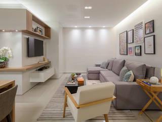 Apartamento .VB Salas de estar modernas por Amis Arquitetura e Decoração Moderno