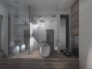 Łazienka z kabiną walk-in Nowoczesna łazienka od KONTRAST STUDIO Nowoczesny