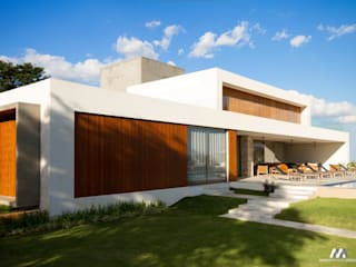 Residencial Quinta da Baroneza Jardins modernos por Mario Moreno Arquitetura e Design Moderno
