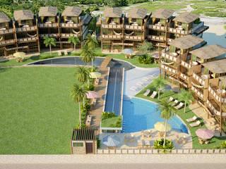 de estilo tropical de RAJ Projetos de Arquitetura Ltda., Tropical