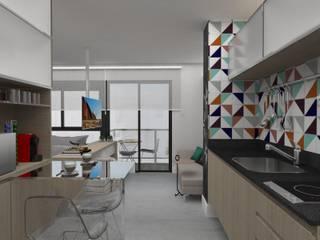 Projeto Estúdio Diseño: Cozinhas  por MR18 Arquitetura   Interiores,Moderno
