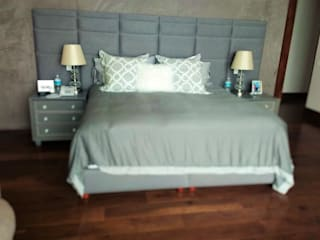 Estilo en muebles BedroomBeds & headboards Synthetic Grey