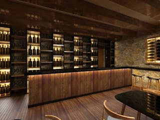 Wine Bar por Atelier 12 Moderno