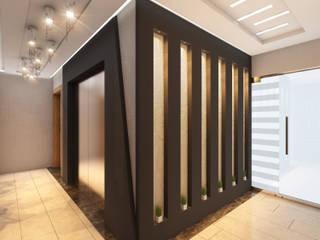 Couloir, entrée, escaliers modernes par MİNERVA MİMARLIK Moderne
