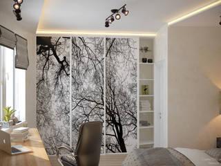 Skandinavische Schlafzimmer von Студия интерьерного дизайна happy.design Skandinavisch
