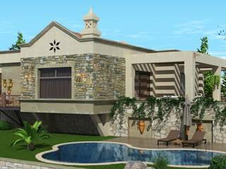 Casas de estilo  por ARTIBODRUM MİMARLIK MÜH.İNŞ.TAAH.TİC.LTD.ŞTİ, Rústico