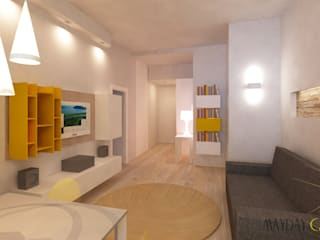 Azzurra Lorenzetto Living room MDF Yellow