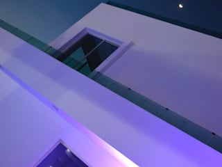 Lomas de Angelopolis, Puebla Blanca: Casas de estilo moderno por Borja Arquitectos