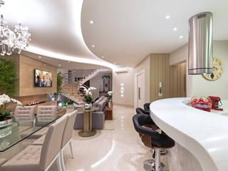 Designer de Interiores e Paisagista Iara Kílaris Modern Living Room Beige
